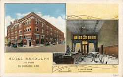 Hotel Randolph, Air-Conditioned Coffee Shop Postcard