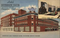 Hotel Jefferson Davis Postcard