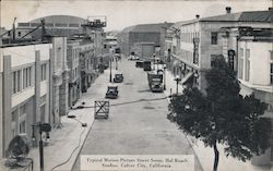 Typical Motion Picture Street Scene, Hal Roach Studios Postcard