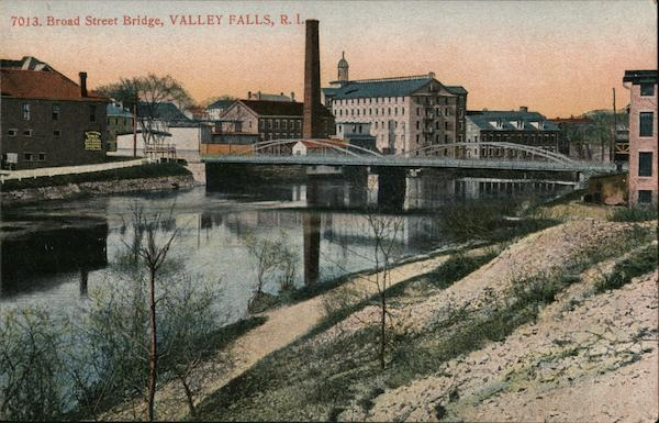 Broad Street Bridge Valley Falls Rhode Island