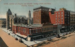 Corner of Douglas and Market, Looking South and West Postcard