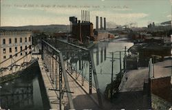 Mill St. Bridge & Public Works, Looking South Postcard