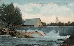The Dam, Contoocook River Postcard