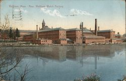 Waltham Watch Factory Postcard