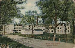 A.J. Bates Shoe Factory Postcard