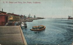 S.P. Depot and Ferry Postcard