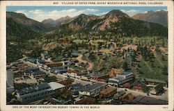 Village of Estes Park, Rocky Mountain National Park Postcard