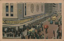 Scene Outside Radio City Music Hall Crowding For A Popular Afternoon