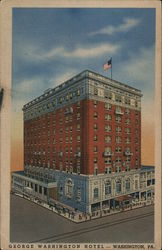 George Washington Hotel Community Owned And Operated 210 Rooms and All With Bath Fire Proof Pioneer Grill Postcard