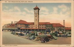 The Union Station This Depot Handles All Passenger Service Of The Various Rail Lines Entering Portland. Postcard