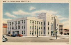 New York Central Station, Syracuse, N.Y. Postcard