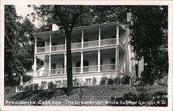 Presidents Cottage - The Greenbrier Postcard