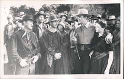 "Scene from ""Belle Starr"", Randolph Scott and Gene Tierney Postcard"
