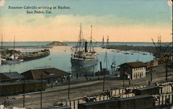 Steamer Cabrillo Arriving at Harbor Postcard