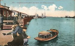 Southern Pacific Depot and Ferry Postcard