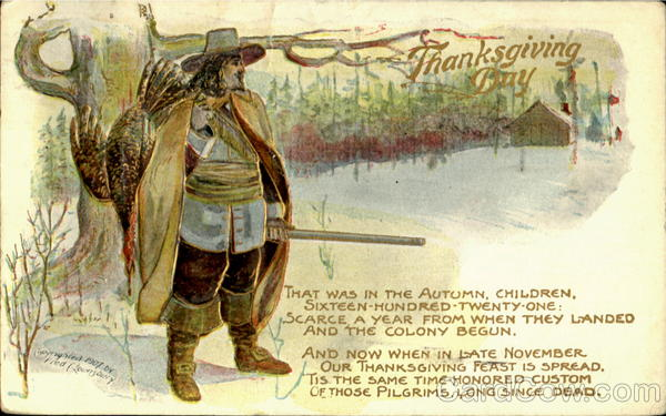 Thanksgiving Day Old Postcard