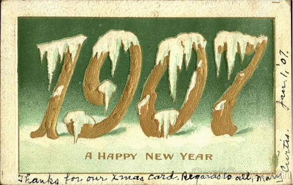 A Happy New Year 1907 Years