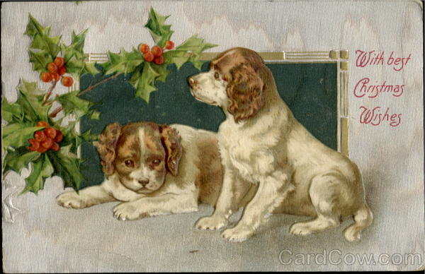 With Best Christmas Wishes Dogs