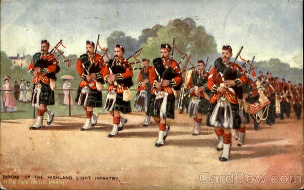 Pipers Of The Highland Light Infantry Scotland