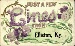 Just A Few Lines From Elliston