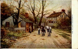 The Village Blacksmith Postcard