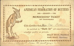 American Federation Of Butters Postcard