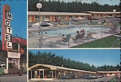 Pine Dell Motel Postcard