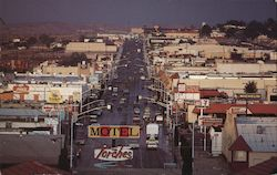Route 66 Through Barstow Postcard