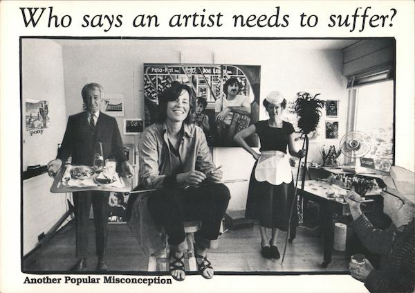 Who says an artist needs to suffer? Another popular misconception