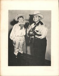 Asher Sizemore and Little Jimmie Postcard