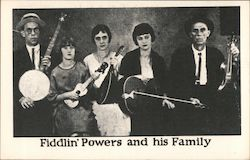 Fiddlin' Powers and his Family Postcard