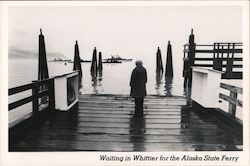 Waiting in Whittier for the Alaska State Ferry Postcard
