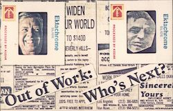 Out of Work: Who's Next? Jimmy Carter Postcard