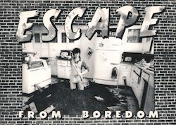 Escape From Boredom Postcard