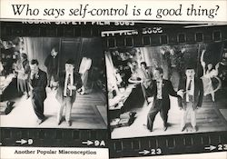 Who says self-control is a good thing - Another Popular Misconception Postcard