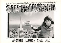 Greetings from San Francisco Another Illusion Shattered Postcard