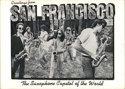 Greetings from San Francisco - The Saxaphone Capital of the World Postcard