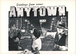 Greetings from Scenic Anytown USA Postcard