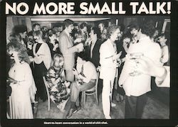 No More Small Talk Postcard