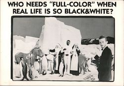 "Who Needs ""Full-Color"" When Real Life Is So Black & White Postcard"