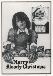 Merry Bloody Christmas - Janet de Wagt 1980 Postcard