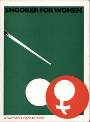 Snooker For Women - a woman's right to cues Postcard