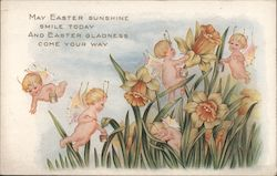 May Easter Sunshine Smile Today and Easter Gladness Come your Way Postcard