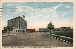 Capitol Park Hotel, Government Printing Office, P.O., Union Station