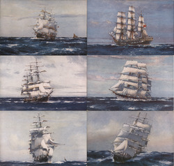 Set of 6: British Clipper ships