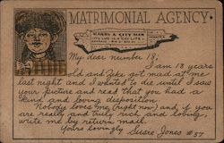 Matrimonial Agency Postcard