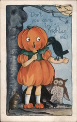 Rare Whitney Halloween Don't you dare try to frighten me! Postcard