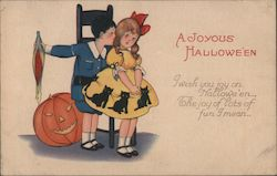 A Joyous Halloween I Wish You Joy on Halloween, The Joy of Lots of Fun I Mean Postcard