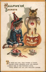 Hallowe'en Secrets Postcard