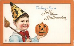 Wishing you a Jolly Halloween Postcard